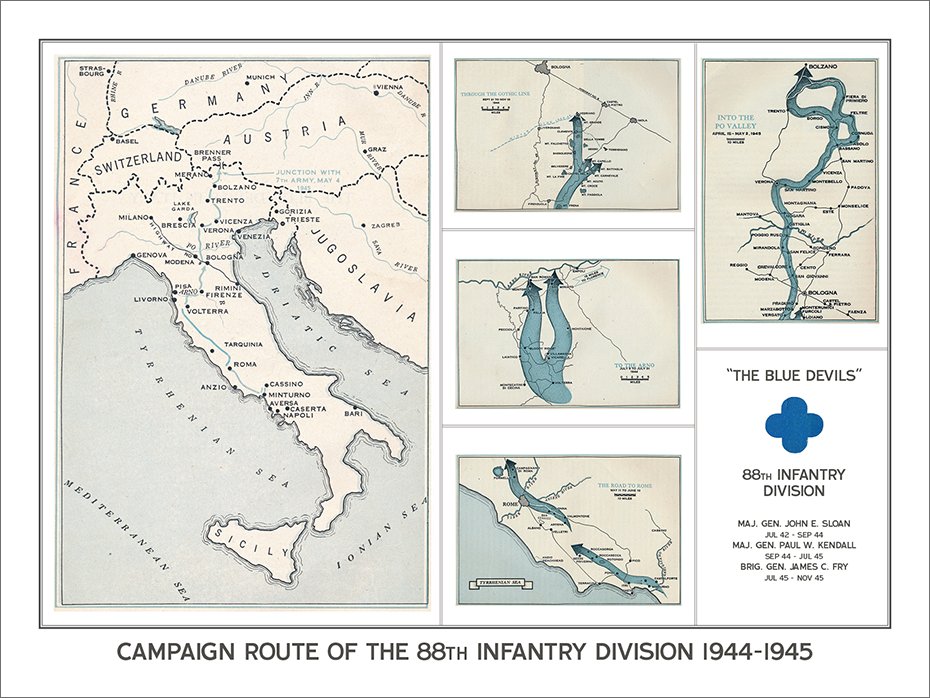 88th Infantry Division Campaign Map