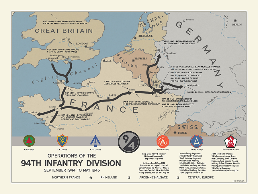 94th Infantry Division Campaign Map