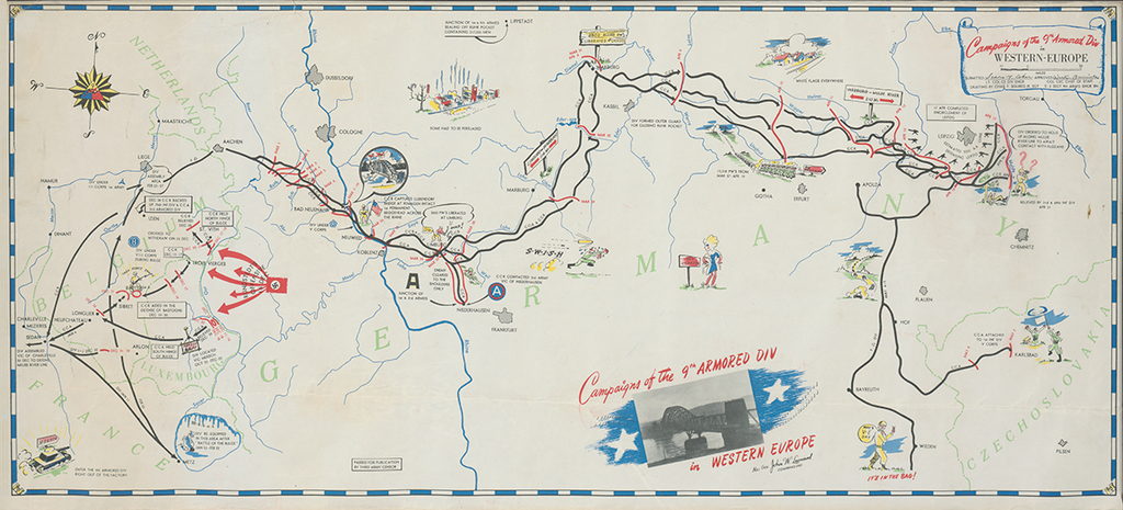 9th Armored Division Campaign Map