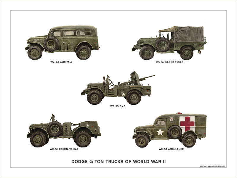 Dodge 3/4 Ton Trucks of World War II