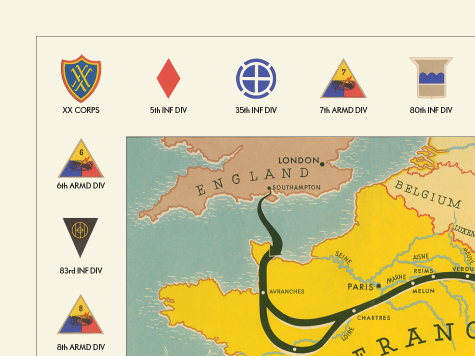 XX U.S. Army Corps Campaign Map