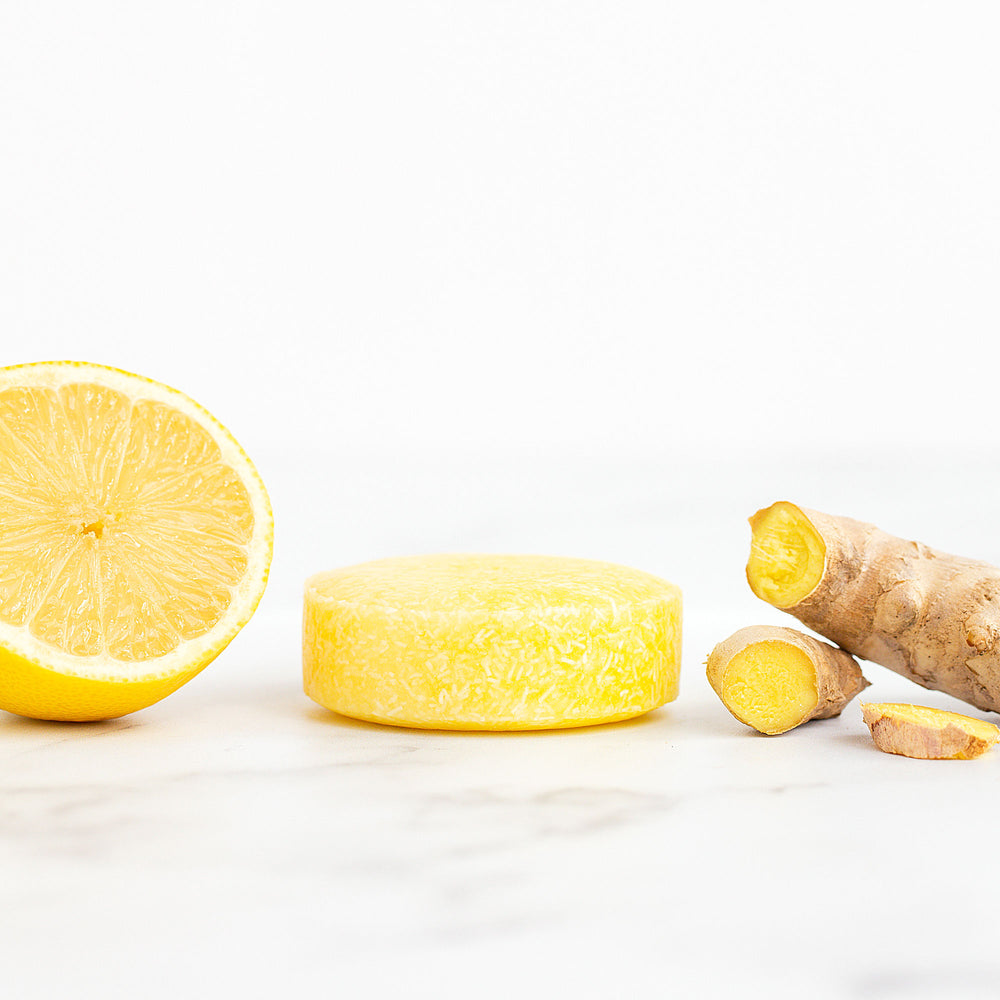 Lemon & Ginger Solid Shampoo Bar - Vegan