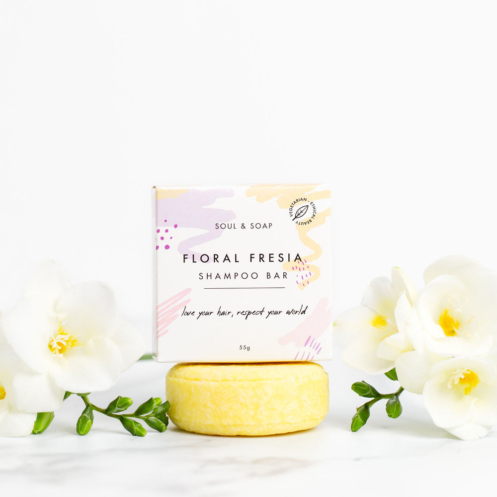 Floral Freesia Solid Shampoo Bar