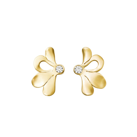 Boucles d'oreilles Pétale Or jaune et Diamants