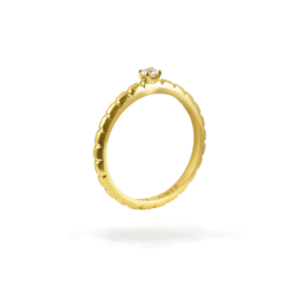 Bague Spicy Love Or jaune et Diamant