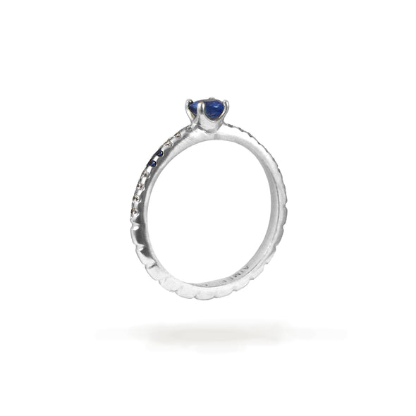 Bague Spicy Love Or blanc Saphirs et Diamants