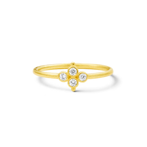 Bague Delta Or jaune et Diamants