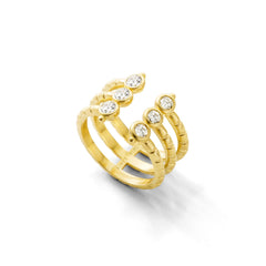 Bague Folles Iguazu triple Or jaune et Diamants