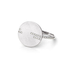 Bague Horizon Or blanc et Diamants