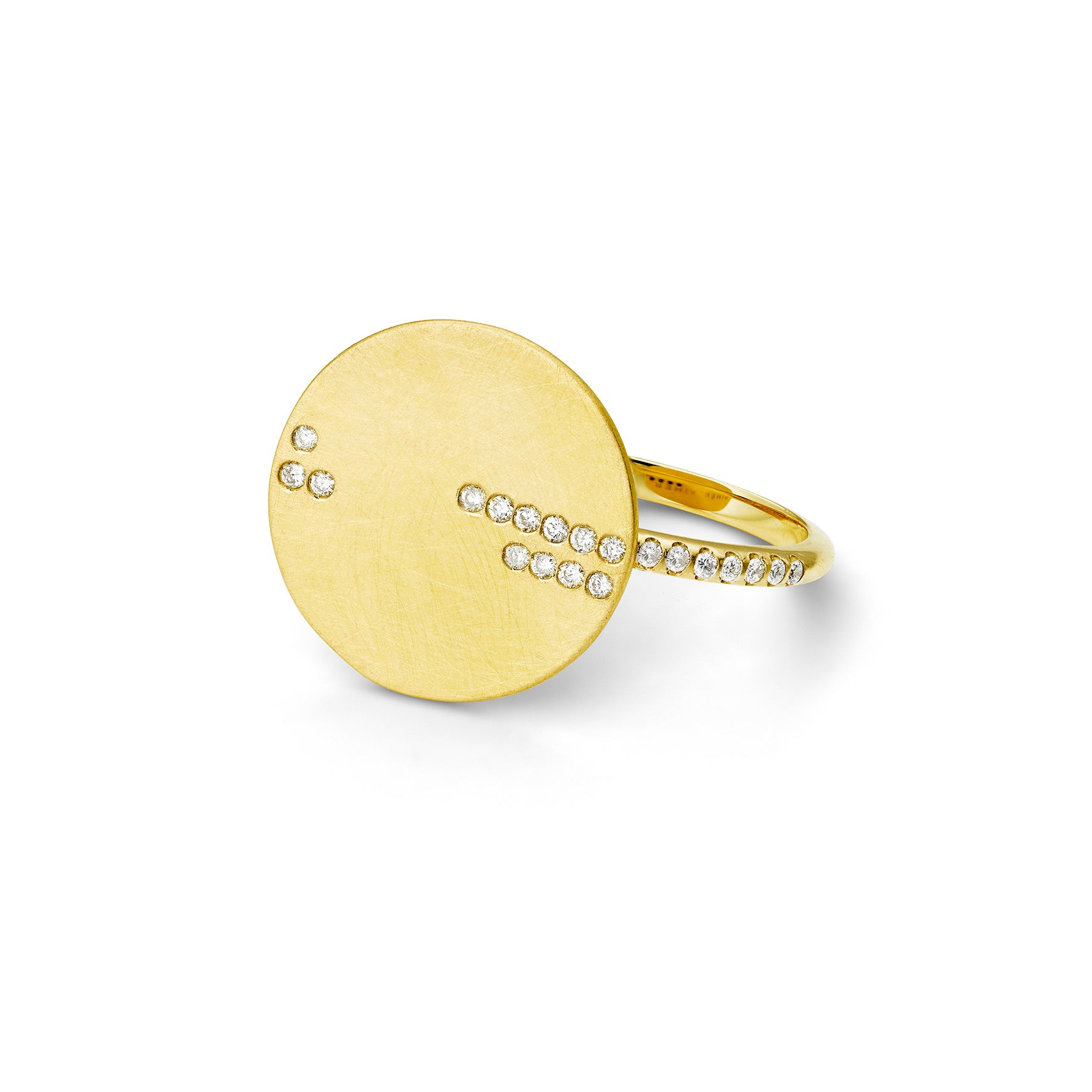 Bague Horizon Or jaune et Diamants