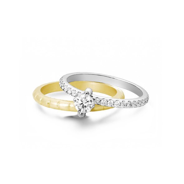 Bague Nous (n°1) Or jaune et Or Blanc, Diamants