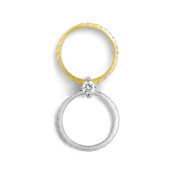 Bague Nous (n°4) Or jaune et Or Blanc, Diamants