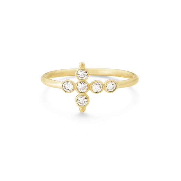 Bague Petit AA Or jaune et Diamants