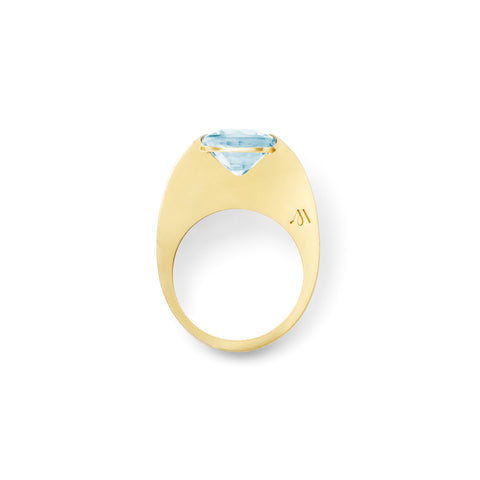 Bague Rio Or jaune et Aigue-marine