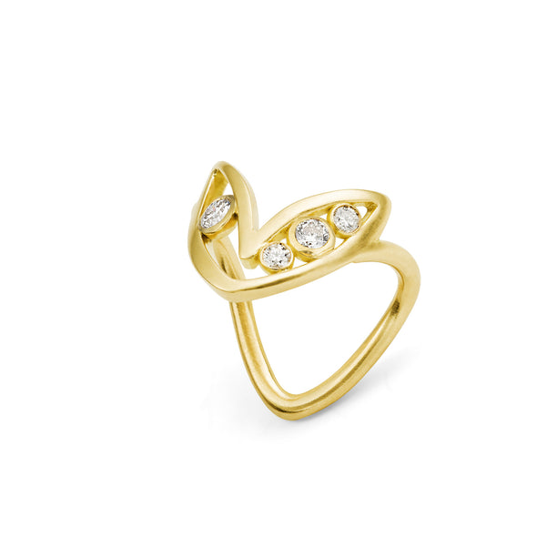 Bague Bel Aloha Or jaune et Diamants