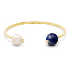 Bracelet Chance Or jaune, Perle, Lapis Lazuli et Diamants