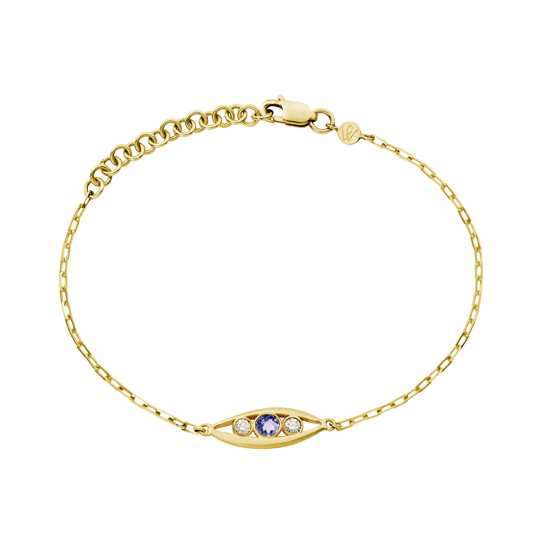 Bracelet Bel Aloha Or jaune, Tanzanite et Diamants