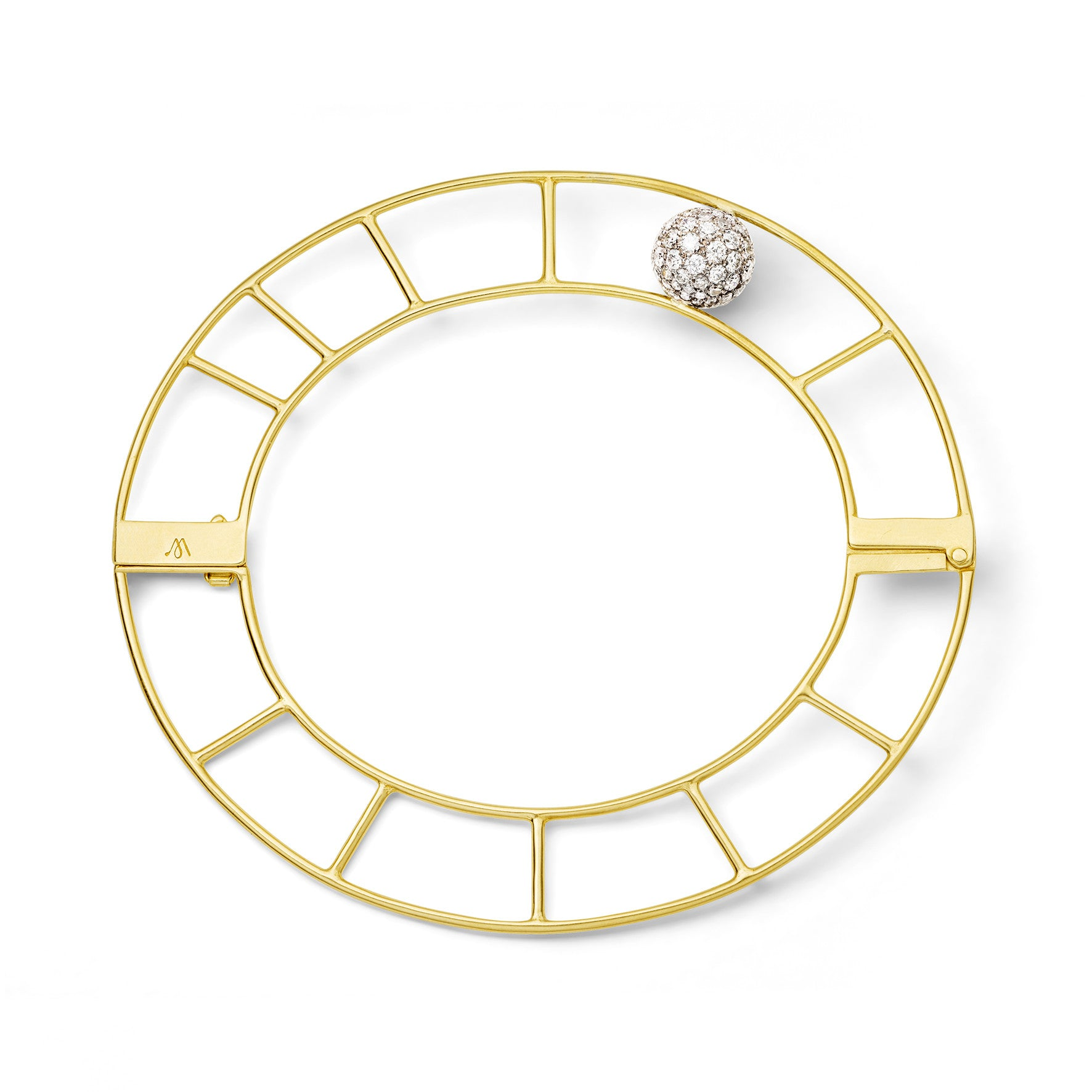 Bracelet Vertical Cage Or jaune et Diamants