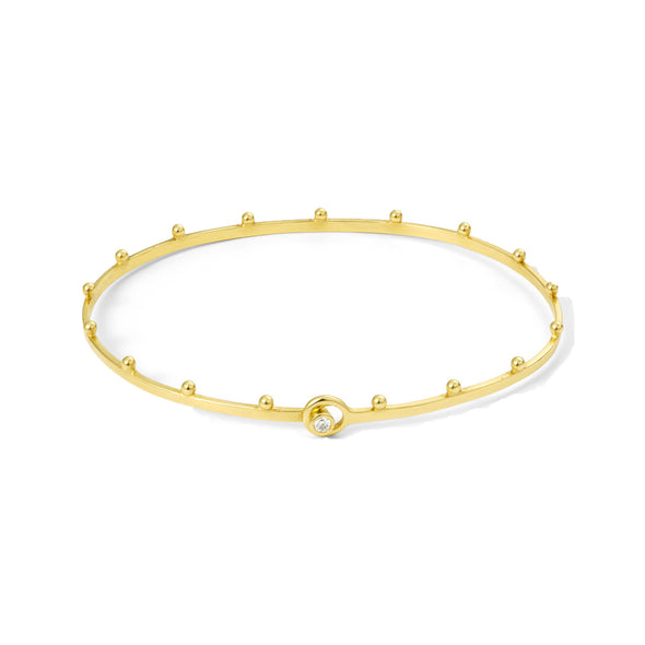 Bracelet Grains Or jaune et Diamant
