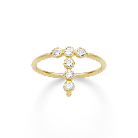 Bague AA Or jaune et Diamants