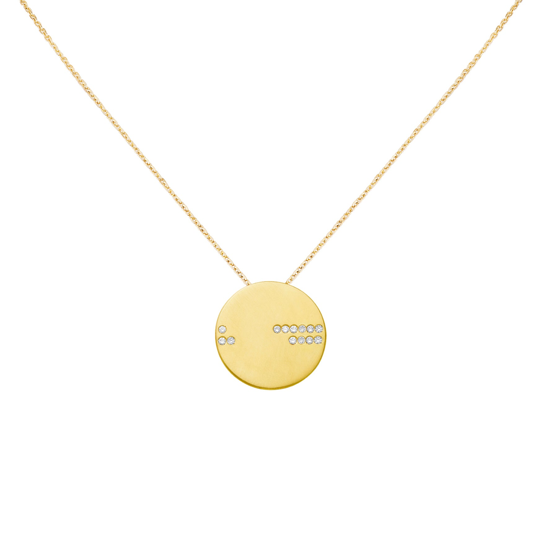 Collier Horizon Or jaune et Diamants