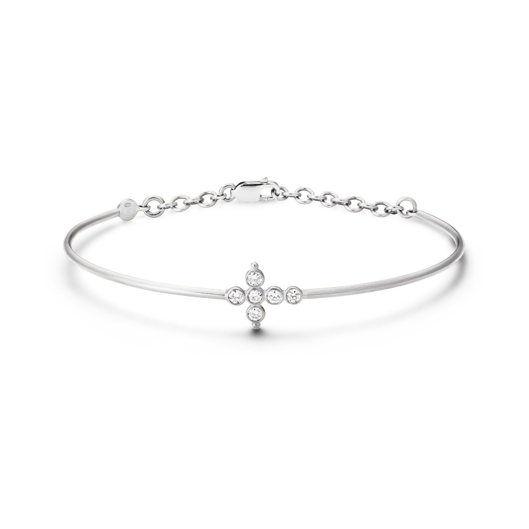 Bracelet Petit AA Or blanc et Diamants