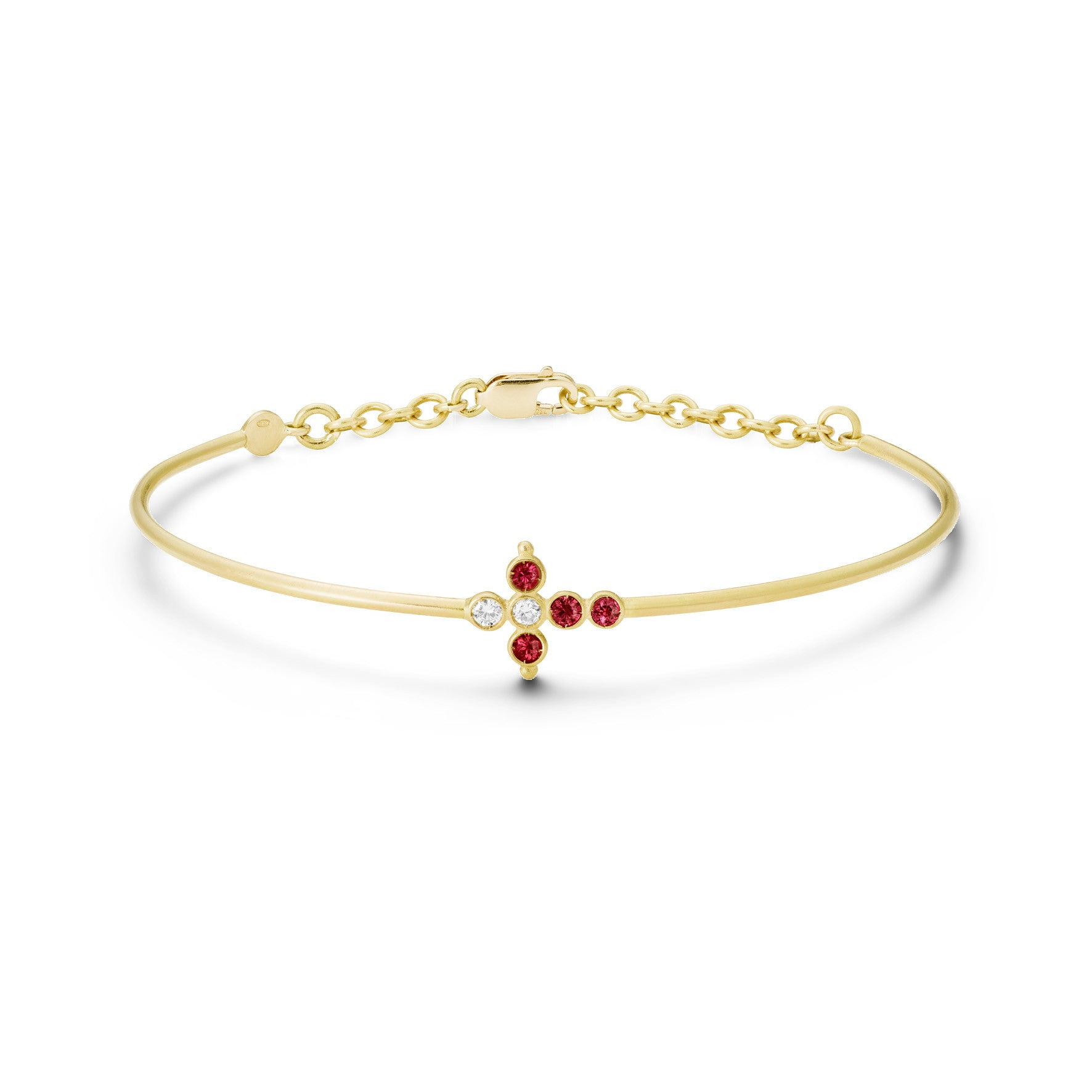 Bracelet Petit AA Or jaune, Rubis et Diamants
