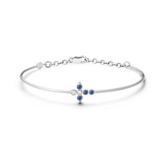Bracelet Petit AA Or blanc, Saphirs et Diamants