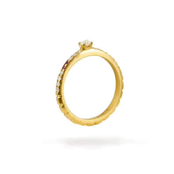 Bague Spicy Love Or jaune Rubis et Diamants