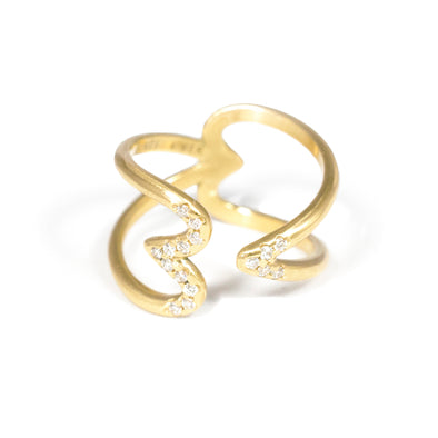 Bague Crush  Or jaune et Diamants