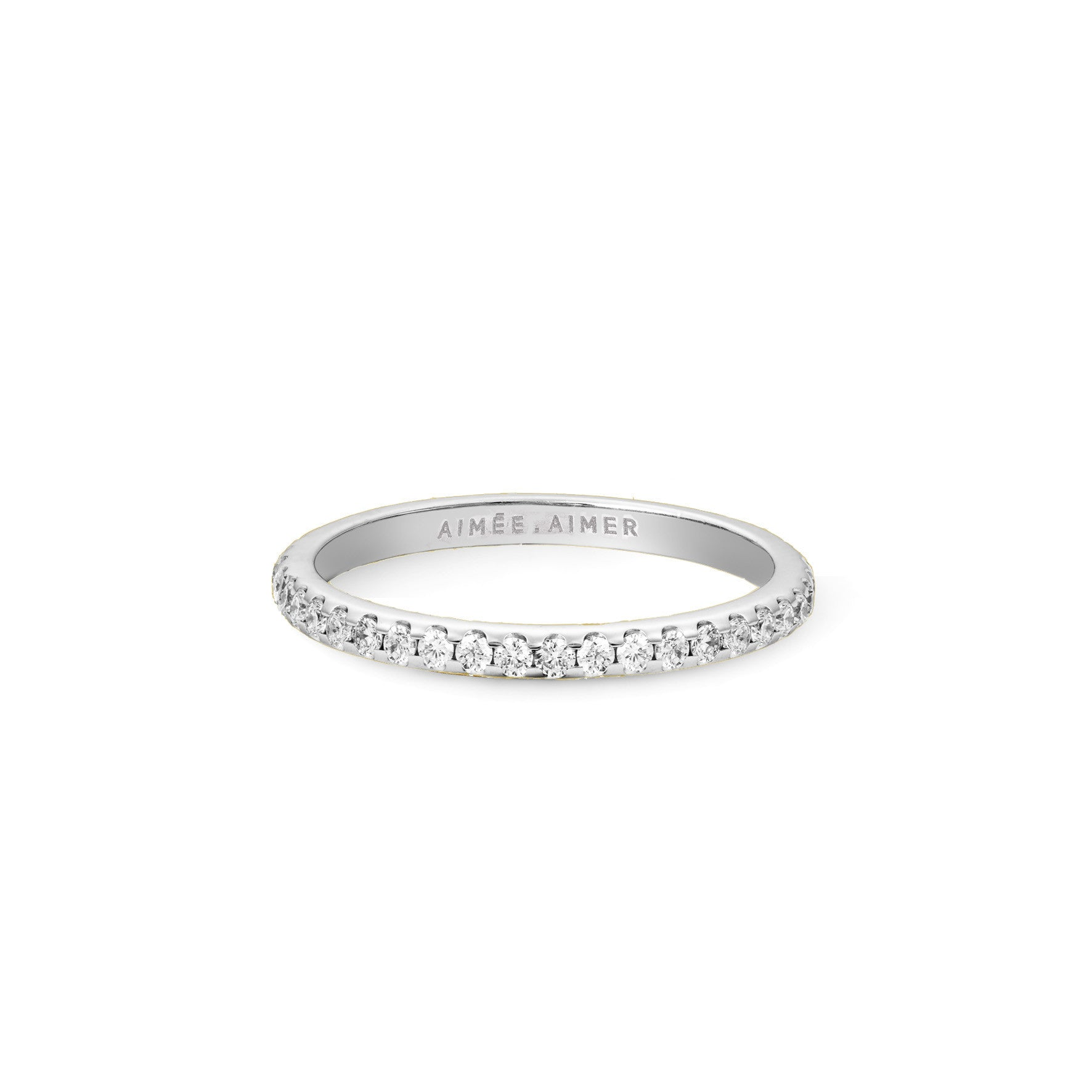 Bague Infini Or blanc et Diamants