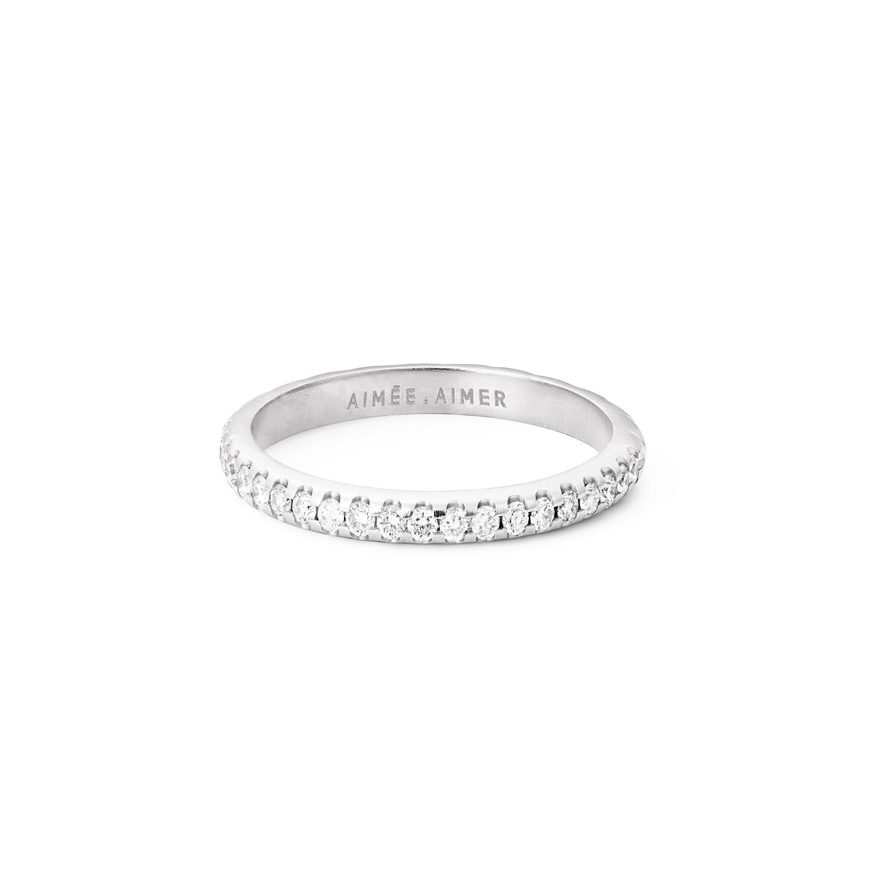 Bague Bi  Or Blanc et Diamants