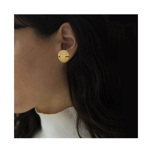 Boucle d'oreille Horizon Or jaune et Diamants