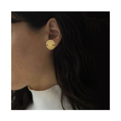 Boucle d'oreille Horizon Or blanc et Diamants