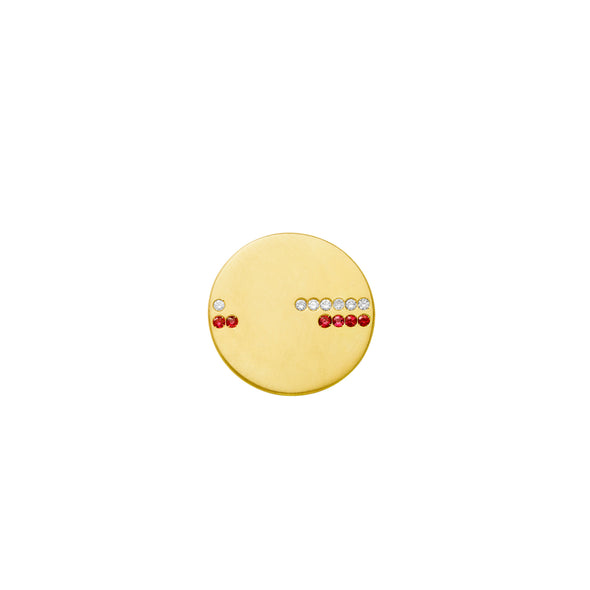 Boucle d'oreille Horizon Or jaune Rubis et Diamants