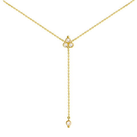 Collier Open Delta Or jaune et Diamants
