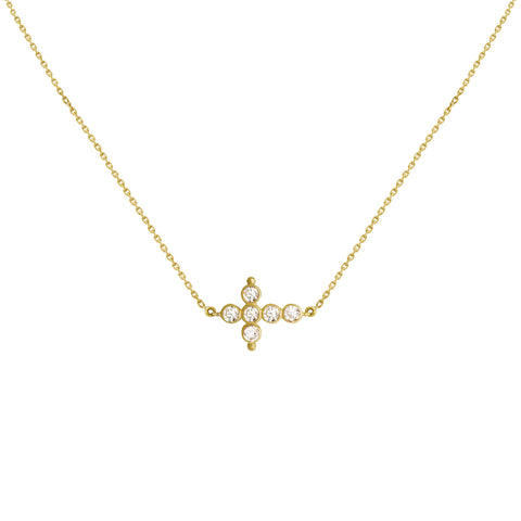 Collier Petit AA Or jaune et Diamants