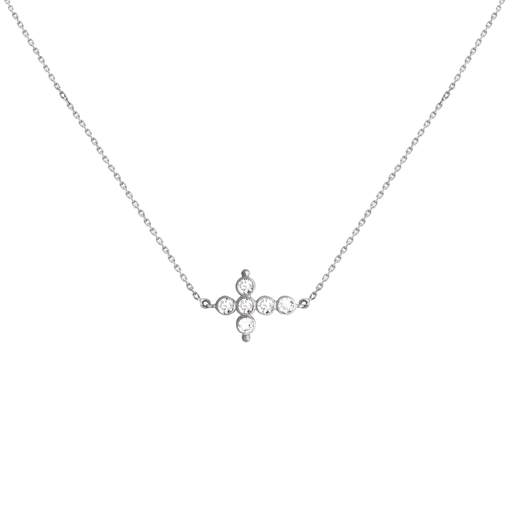 Collier Petit AA Or blanc et Diamants