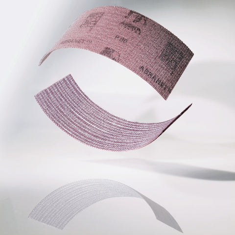 Mirka Abranet sanding strips for all kinds of sanding. Ideal for hand sanding with sanding block. Less clogging than sandpaper. Can be used wet or dry.