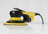 Mirka DEROS 5650CV Electric random orbital sander with case and exchangeable sanding pad sizes.