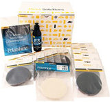Glass Polishing kit including 125mm Abralon pads and felt pads, for polishing out scratches on glass.
