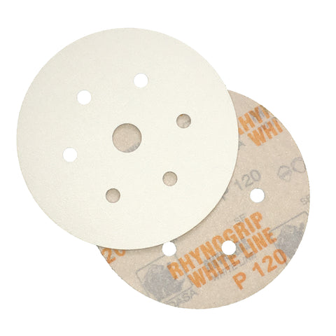 Indasa Rhynogrip whiteline sanding discs - ideal for sanding paint, wood and for decorating preparation.