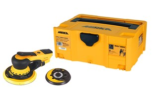 Mirka DEROS electrical orbital sander with 125/150mm pads and case