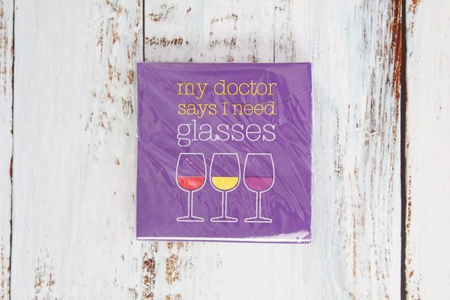 My Doctor Says I Need Glasses Drink Napkin