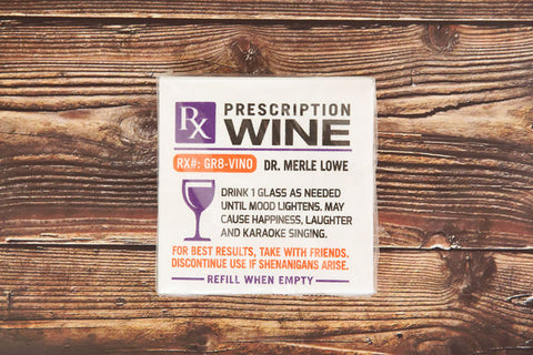 Prescription Wine Drink Napkin