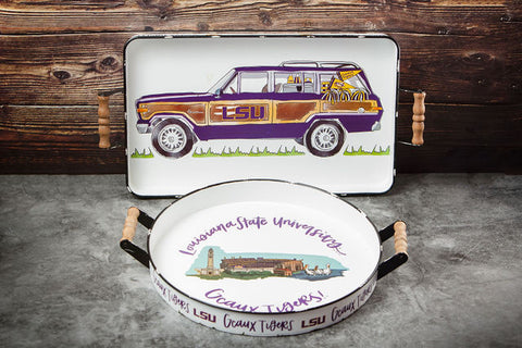 Louisiana State University College Trays
