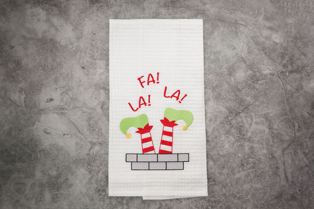 Fa La LA LA Tea Towel
