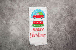 Merry Christmas - Red Truck