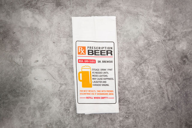 Beer Prescription Tea Towel