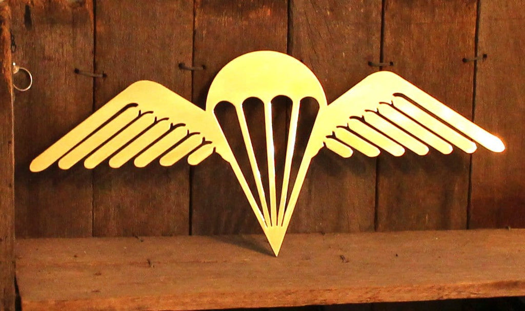 Brass 3 RAR Para Wings Metal Art **FREE SHIPPING WITHIN AUSTRALIA** - Australian Custom Metalwork Designs